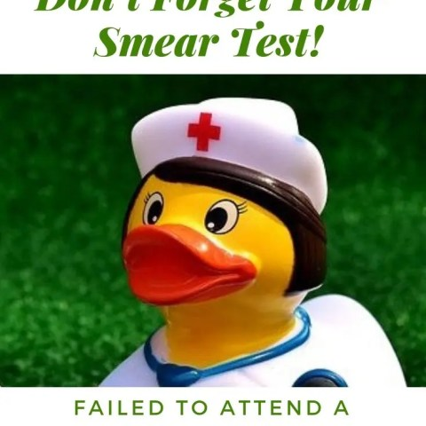 Don't Forget Your Smear Test!
