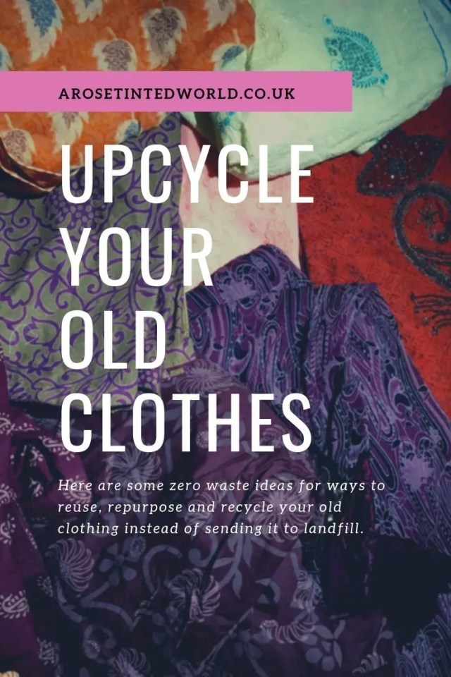 Upcycling Old Clothes ⋆ Fast Fashion is so environmentally unsound. Here are some zero waste and ecologically friendly ideas on saving fabric. Reuse, repurpose and recycle fabric with these thoughts and patterns. Upcycle your old clothing and cloth to make fabulous new things #lagom #upcycling #zerowaste #fastfashion #zerowastelifestyle #ecofriendlyideas