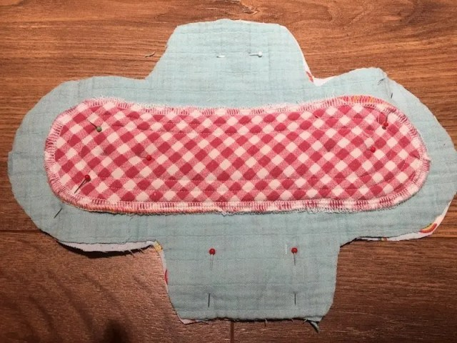 Reusable Sanitary Pads - attaching backing