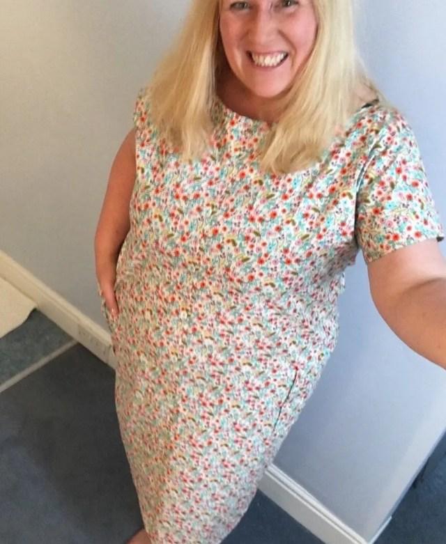 my modified Zoe Dress pattern