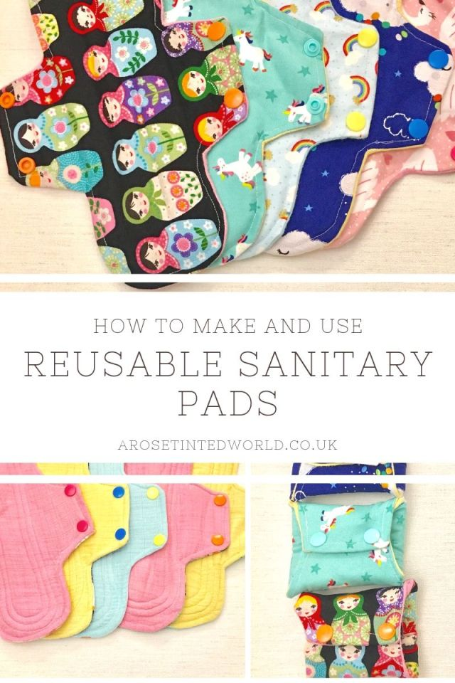 Reusable Sanitary Pads - How To Make And Use Them ⋆ These are a great way of upcycling old clothes and bedding. Find out the advantages. How to wash. How to clean. How to make. Chart of core layers needed. Materials to use. Step by step tutorial on how to make these zero waste items #upcycling #reusablesanitarypads #clothpads #reusableclothpads #makesanitarypads #zerowaste #makeyourownsanitarypads #sewingtutorial #diy