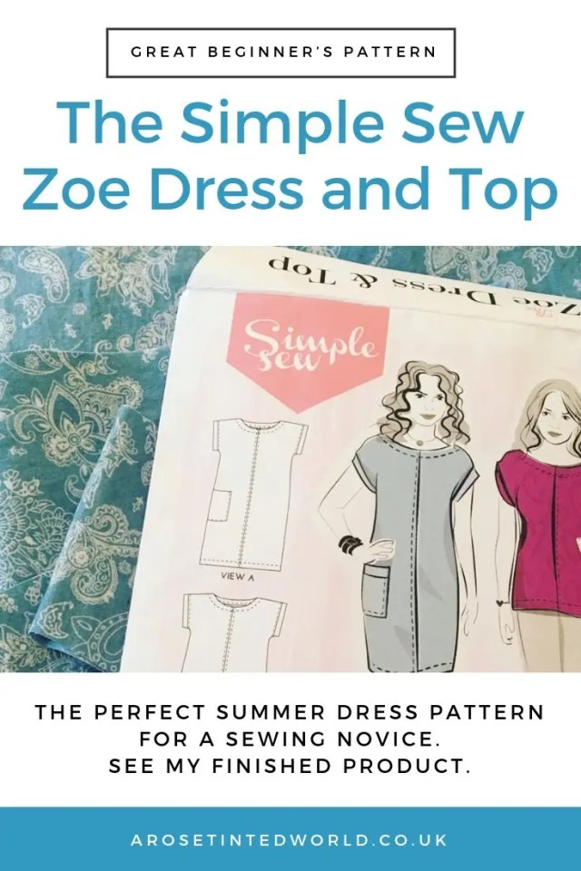 The Simple Sew Zoe Dress and Top pattern. What I thought of the pattern and how I made it. Wearable toile. The dress has a pocket but I made 2. Why not sew your own. Perfect beginner's dress pattern for novice sewers. Easy sewing project for dress makers. #sewing #sewingtips #easysewingpattern #novicesewing #easydresspattern #beginnerssewingpattern #simplesew