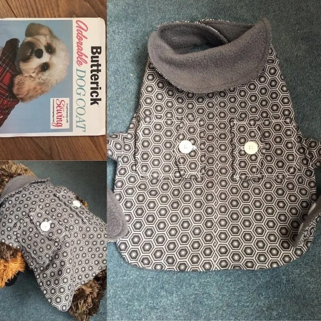 Make a dog coat using remnants of fabric