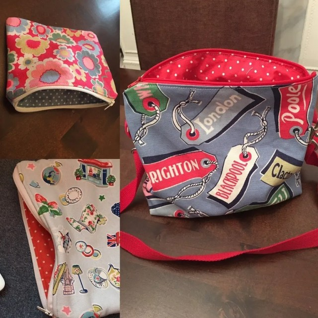 Zippered pouches of various sizes