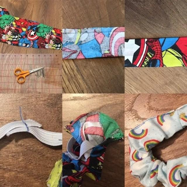 Making a scrunchie - steps involved
