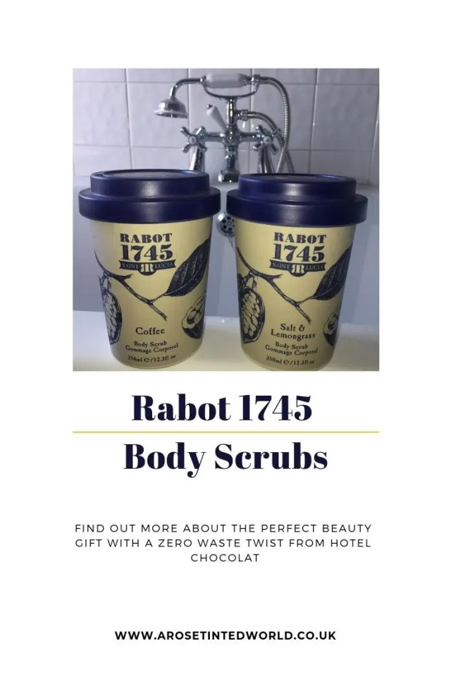 Rabot 1745 Body Scrubs - a gift of beauty from Hotel Chocolate. With a twist, the scrubs are packaged in a reusable bamboo coffee cup. A great gift. Present ideas. Zero waste product. #Rabot1745 #bodyscrubs #hotelchocolat and #beautygift #selfcare #zerowaste #bamboocoffeecup