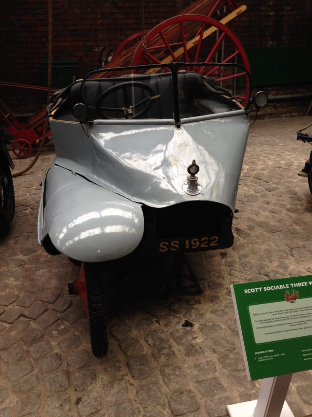 Scotts Sociable 3 wheeler car - Bradford Industrial Museum
