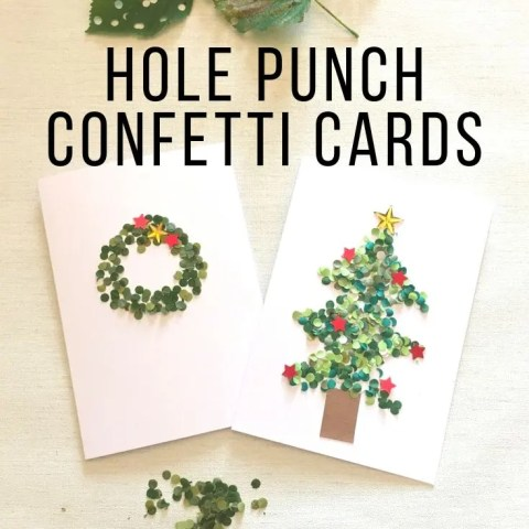 Hole Punch Confetti Cards – An Easy Dotty Craft For Children