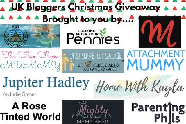 4th set of bloggers hosting The UK Blogger's Big Christmas Giveaway!