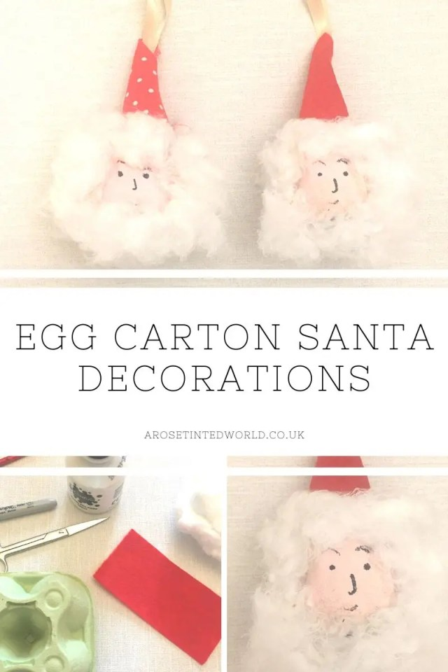 These Egg Carton Santa decorations are made using egg boxes paint that other household items. And easy craft for even small children, this is a great way to reuse, recycle and upcycle in order to have a more zero waste festive season . Holiday ideas on reducing waste and reduce plastic pollution this Xmas #lagom #christmas #zerowaste #christmascrafts #frugalchristmas #christmasdiy#christmasdecor #zerowastechristmas #santadecoration #eggboxcraft #eggcartoncrafts #eggcarton #santa #fatherchristmas