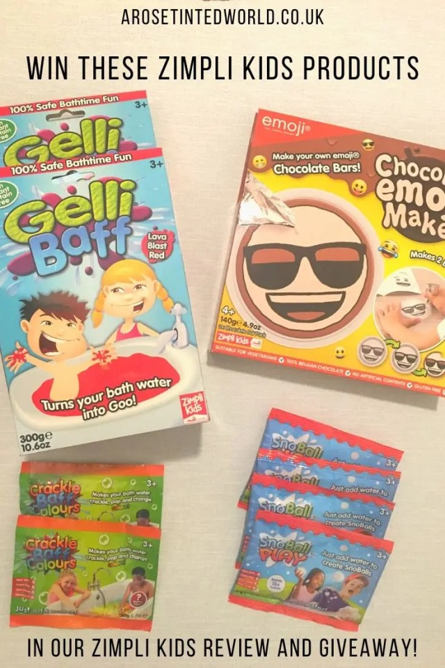 Zimpli Kids Products - win a bundle of Zimpli Kids items - we review the Chocolate Emoji Maker, Gelli Baff, Crackle Baff and SnoBall Play. See how much fun you can have and win some of these for yourself. #giveawayuk #win #zimpli #childrenstoys