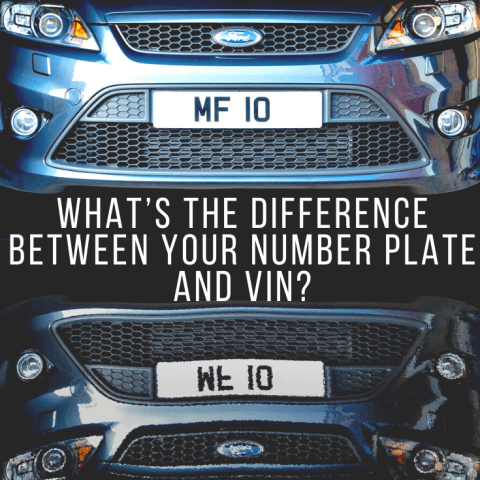 What's the Difference Between Your Number Plate and VIN?