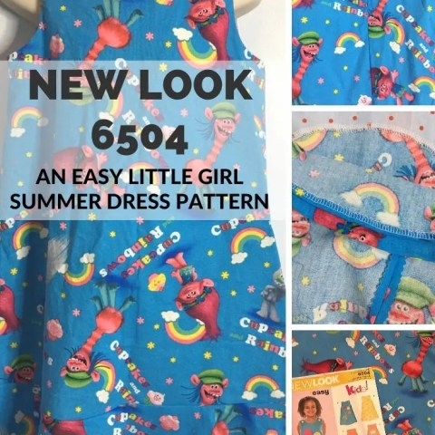 New Look 6504 – An Easy Little Girl's Summer Dress Pattern