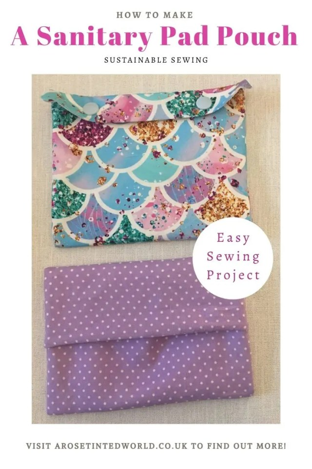 How To Make A Sanitary Pad Pouch -what do you use to carry you normal or reusable period pads? Here's a DIY tutorial on making a waterproof sanitary towel holder. Easy sewing project. for beginners. Great to gift or sell. And can be used as snack bags! #sewing #easysewingproject #beginnerssewingproject #reusablesanitarytowels #sewingtutorial #diytutorial #sanitarypadholder #sanitarypads #sanitarytowels
