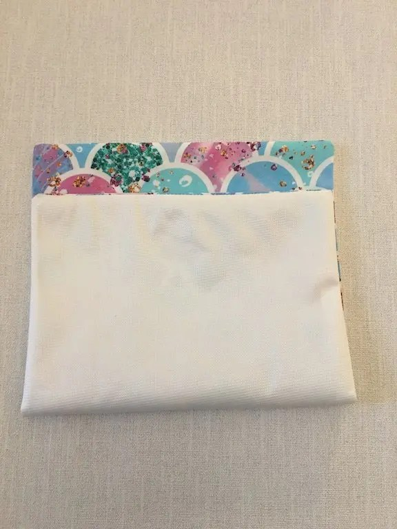Making a sanitary bag pouch 5
