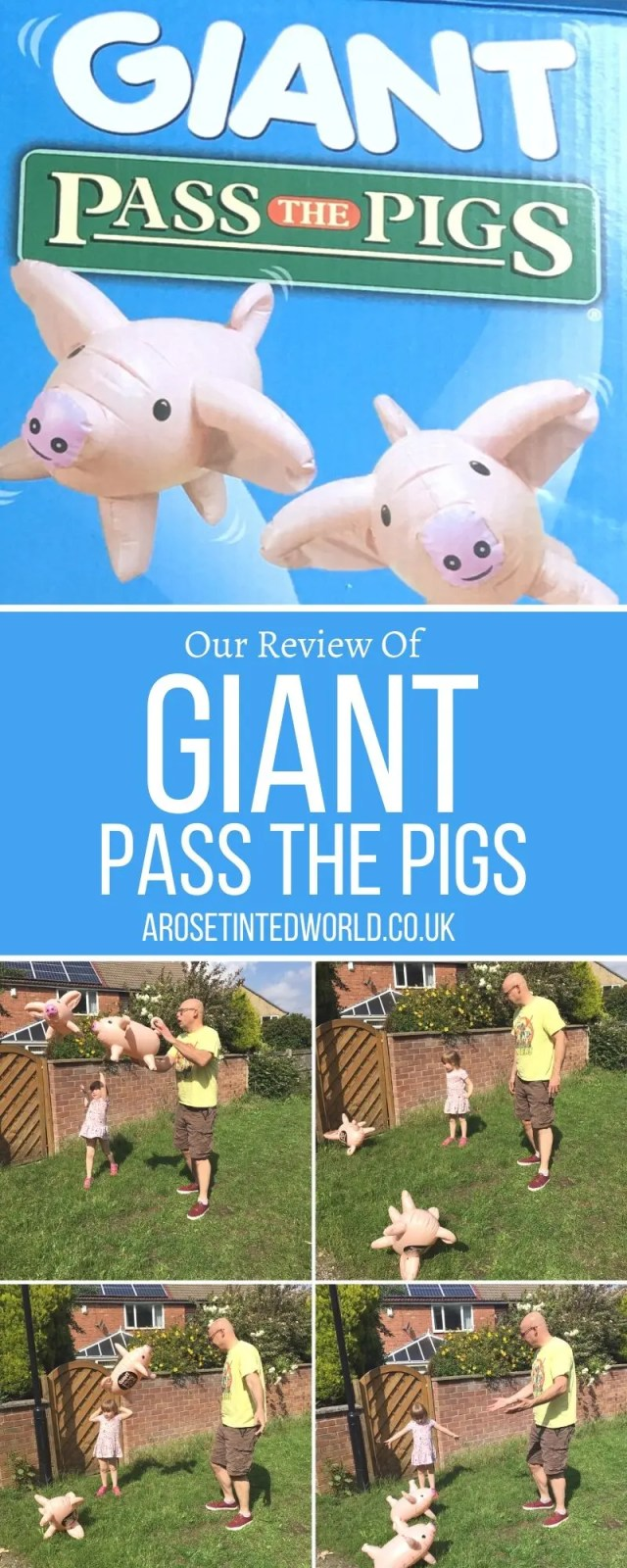 Giant Pass The Pigs - Are you looking for a fun outdoor game that all the family can play? From 4 to 94, this is a hilarious game that everyone will enjoy!