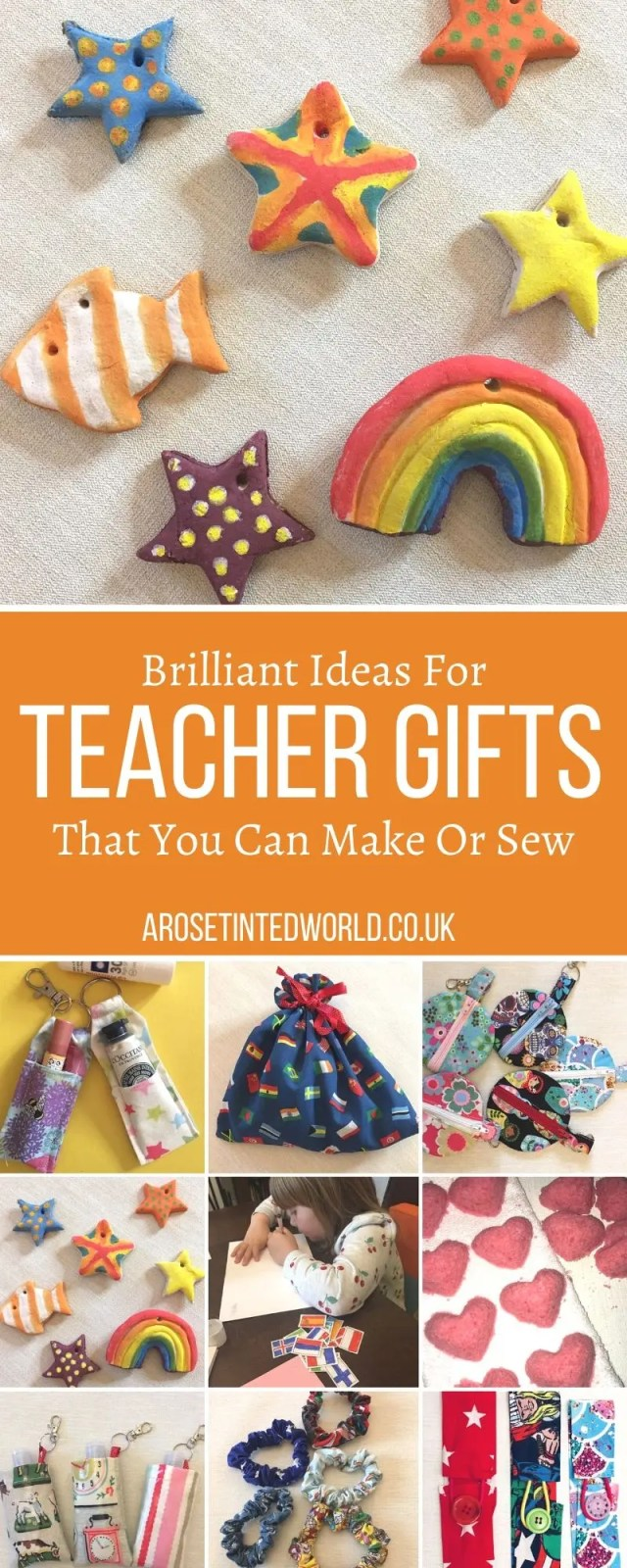 Teacher Gifts That You Can Make Or Sew - some great ideas for hand made thank you gifts to create for a teacher. Money saving presents that you can make at home. Show some love to the special teacher in your life with this gift guide full of brilliant ideas that they will go crazy for. Perfect for Christmas, end of year and end of term. #sewinggifts #sewing #teachergifts #thankyouteacher #teacherpresents #teachergiftguide #teachergiftideas
