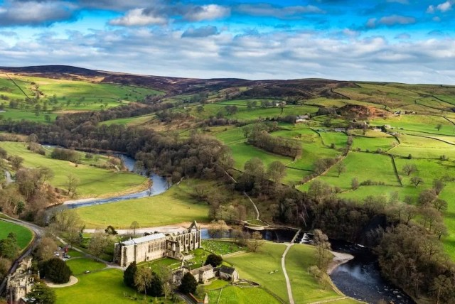 Bolton Abbey from the air