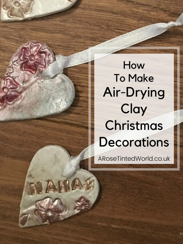 Air-drying Clay Christmas Decorations are an easy and mess free way to make pretty decorations with children. This tutorial shows you how. Create lovely Xmas decor with your child or toddler with this simple dough formula. Perfect to give as gifts or to decorate your Christmas tree and home. Holiday craft ideas for children #christmas #christmascrafts #christmasdiy #christmasdecor #christmascraftsforchildren #christmascraftsforkids