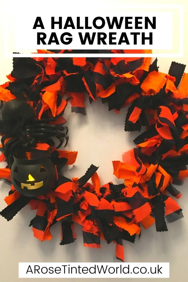 How To Make A Halloween Rag Wreath - make a quick, easy & effective door decoration following this simple tutorial. Perfect Fall craft project. Simple step by step DIY craft tutorial with pictures. You to can create this brilliant door or porch decor for the spooky season. Cheap decoration ideas. #halloweendecor #halloweendecorations #DIYdecorations #halloweencrafts #halloweenwreath #wreath #halloween