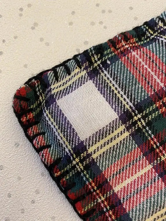 blanket stitched edges