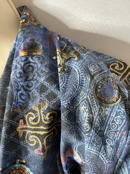 wonky shoulder seam on the Nina Lee Dress