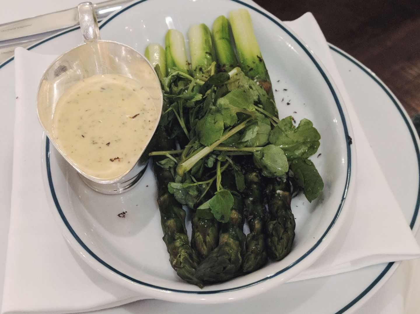 Asparagus with truffle hollandaise Ivy Winchester
