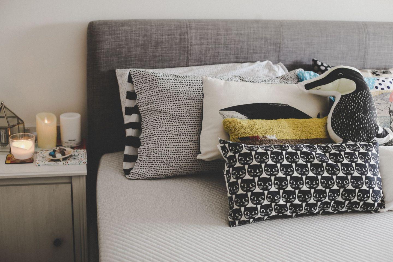 Leesa Sleep mattress in bedroom