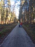 Forsthaus Kasten Kinderwagen Wanderung