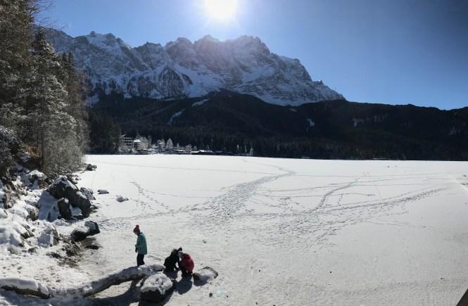 Winterwanderung um den Eibsee