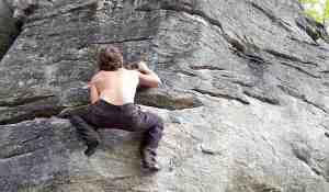 Hiking Chimney Rock Climbing Park in Lake Lure, NC