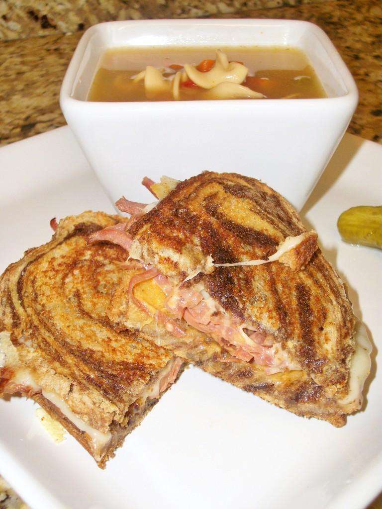 grilled ruben sandwiches around my