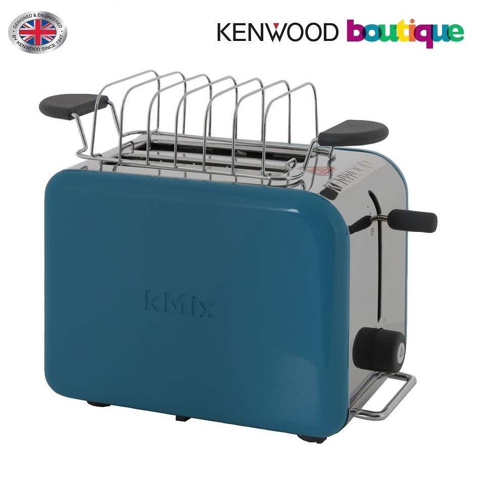 kenwood ttm023 k mix boutique collection 2 slice toaster with warming rack defrost setting aqua blue