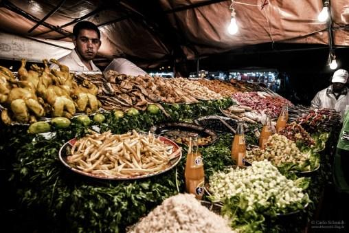 Essenstand auf Jemaa El Fnaa (Unesco)