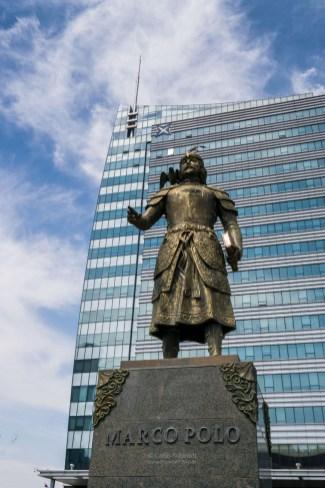 Marco Polo Statur in Ulaan Baatar