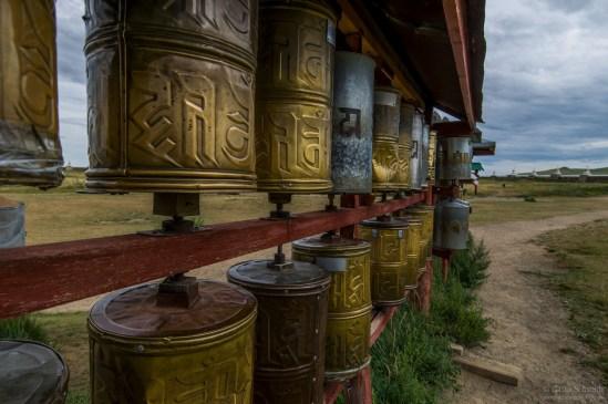 Gebetsmühlen in der Mongolei