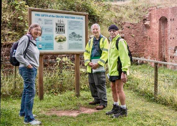 Cllr Gary James with Cllr Dave Mitton and Marion Cracknell of Wellington Walking Group