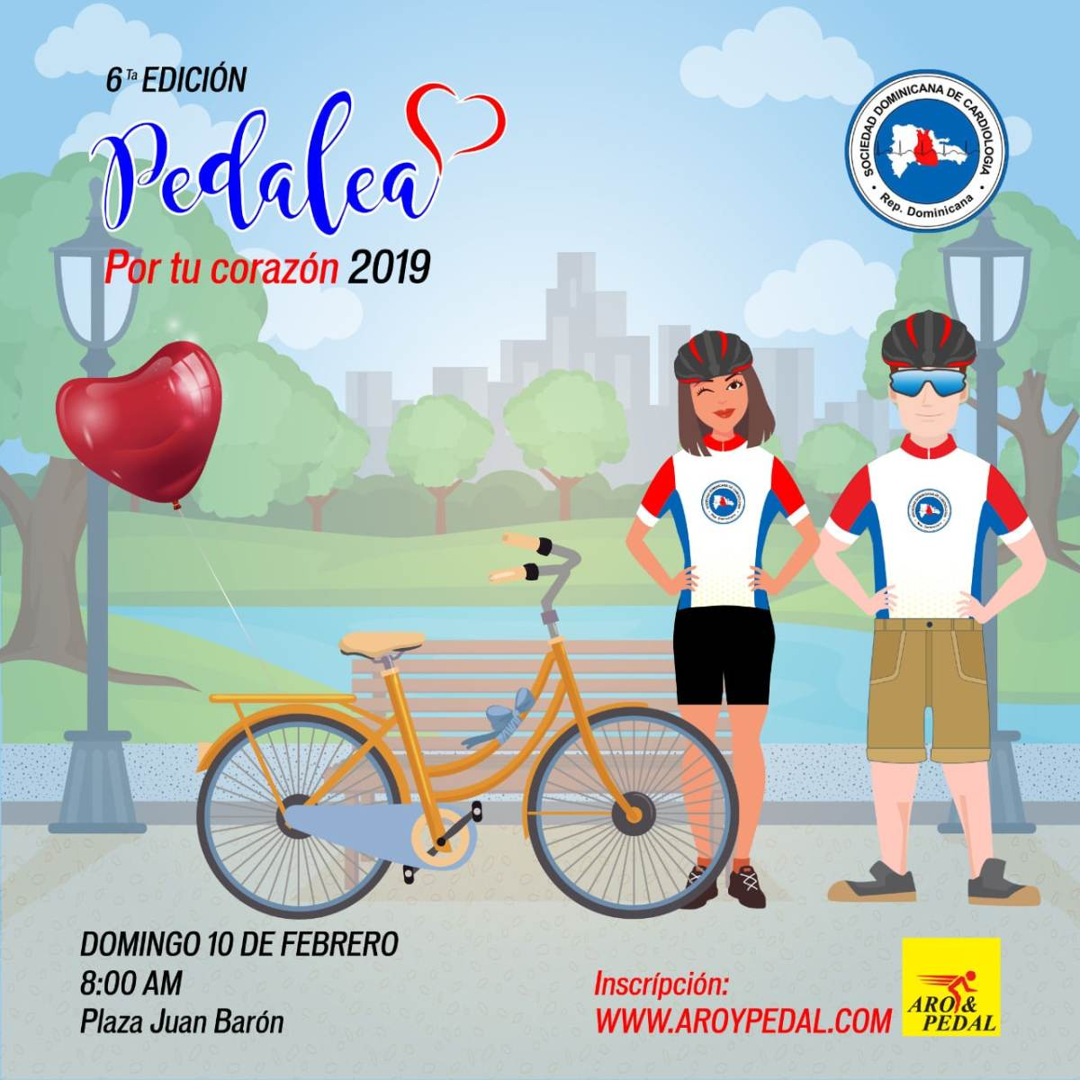 Formulario de Inscripción 6ta Edición Pedalea por tu Corazón 2019