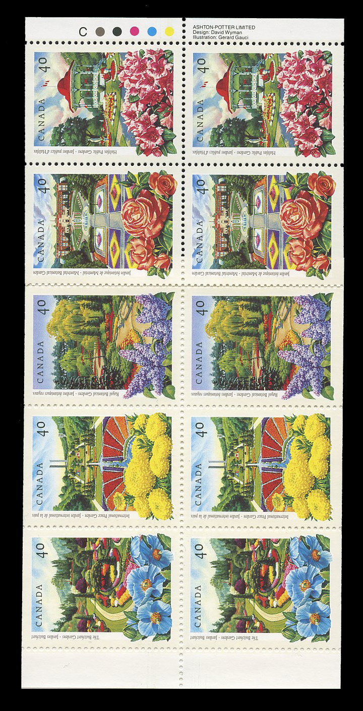 Acheter Canada 1315b Jardins Publics 1991 10 X 40