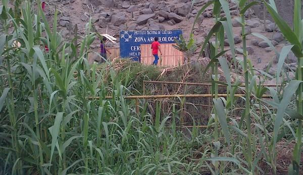 Evitan invasión de zona arqueológica de Matabuey