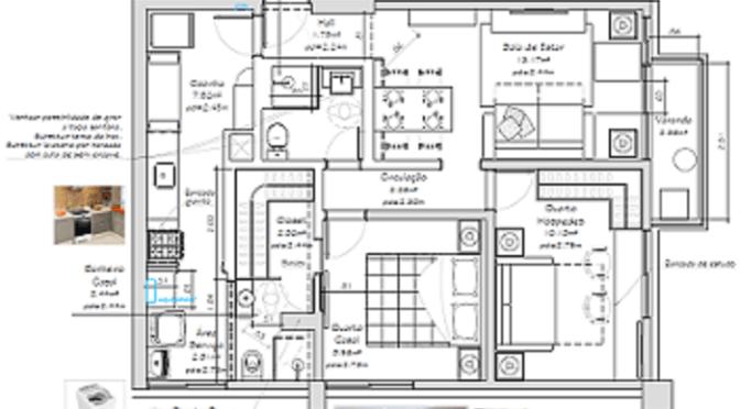 Projeto de reforma de Apartamento no Méier