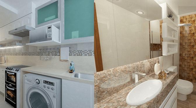 Projeto de reforma de cozinha e banheiro na Barra da Tijuca