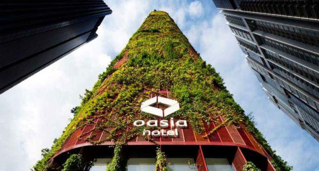 arquitectura sostenibilidad rascacielos madera estructural jardin vertical oasia tower woha