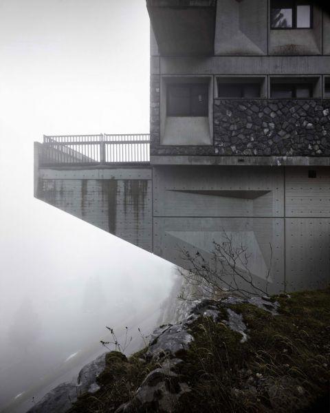 arquitectura Marcel Breuer Flaine fotografías Valentin Jeck exterior voladizo