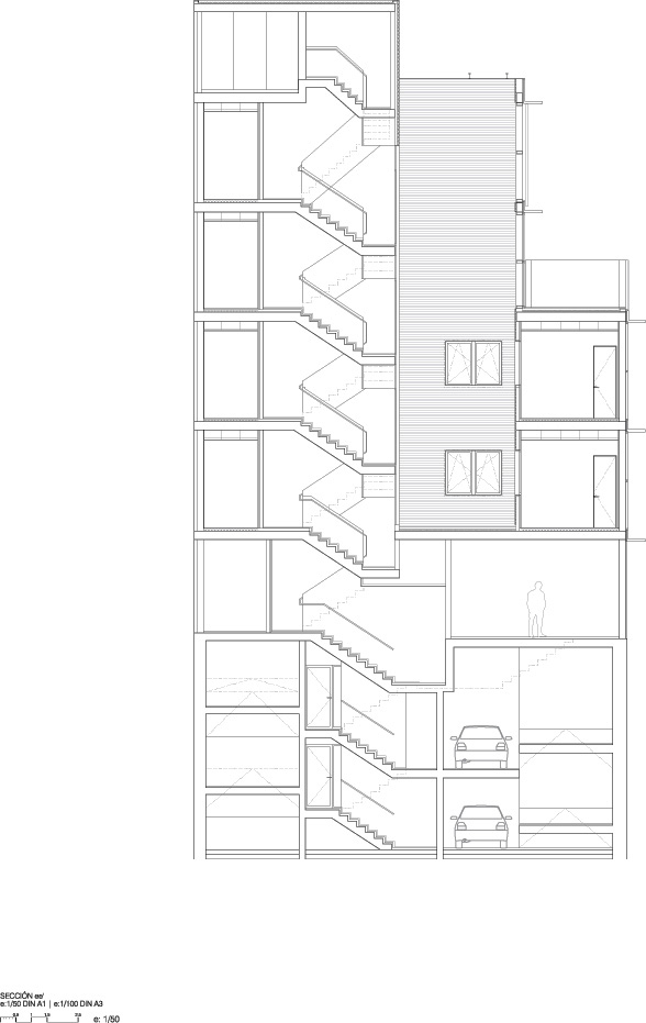 4 Viviendas, Local y Garaje - Abalos + Sentkiewicz Arquitectos