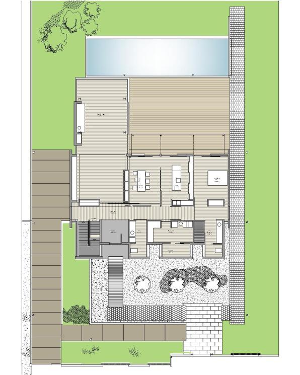 """Casa en """"A-Zapateira"""" – a.f. abeijón-fernandez arquitectos / Planta Baja"""