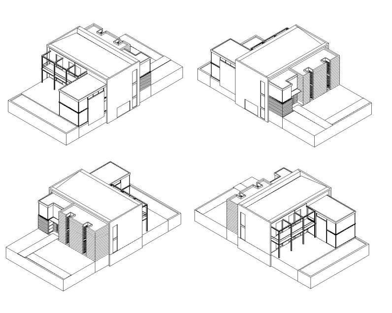 """Casa en """"A-Zapateira"""" – a.f. abeijón-fernandez arquitectos / Axonometrico"""