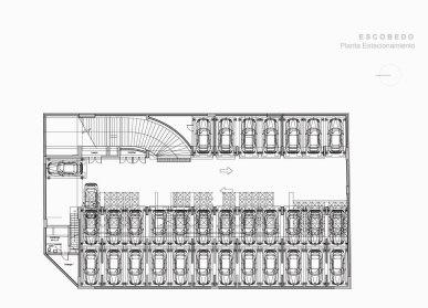 Escobedo - ZD+A / Planta Estacionamiento
