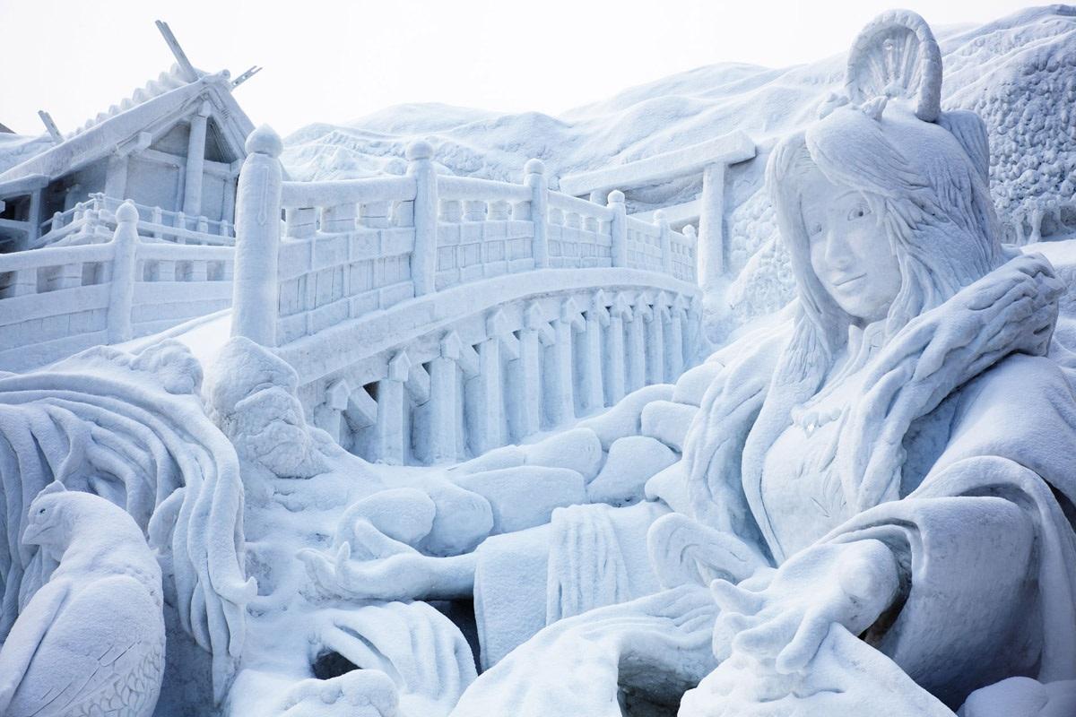"""Image result for مهرجان """"الثلج والجليد"""" في اليابان"""