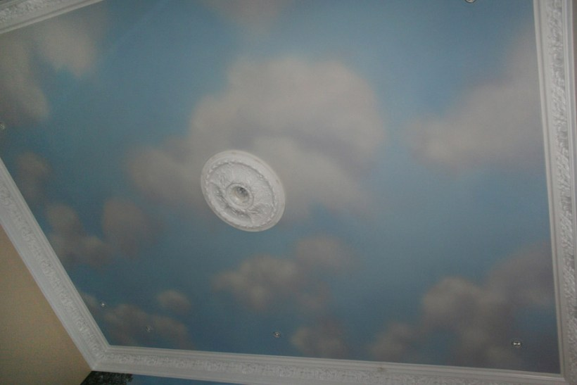 painted clouds on ceiling | www.energywarden.net